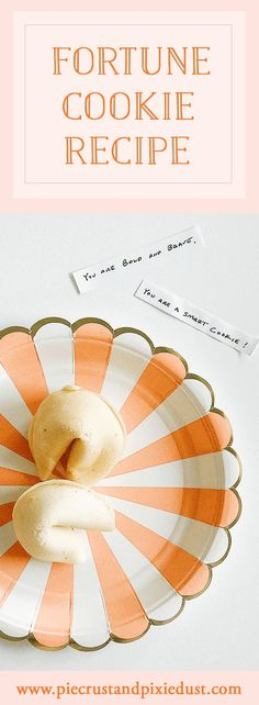 fortune cookie recipe, baking project, pie crust and pixie dust