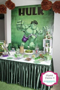 Hulk party   Don't forget Green personalized napkins for your party! www.napkinspersonalized.com