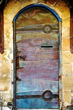 beautiful door in old jaffa, israel