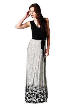 On Trend Paris Lauren Leopard Bohemian Sleeveless Maxi Dress is on sale now for - 25 % !