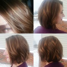 Makeover done on my mom, by me! 4inches off and some babylites.