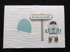Unabhängige Stampin' Up! Demonstratorin - Schönebeck/Elbe bei Magdeburg Ausgestochen weihnachtlich, Es schneit !, Weihnachtskarte, Winterkarte,