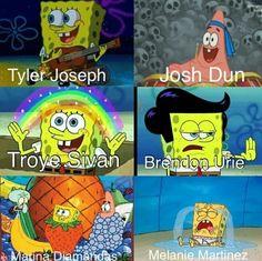 Tyler, Josh, Brendon, and Mel