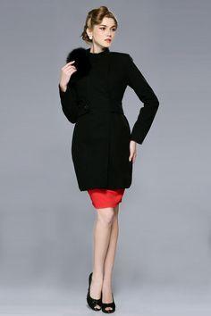 Best Autumn Winter Wool Women Counter Genuine Fox Fur Collar High-end Brand Fleece Wool Coat New Wool & Blends Online with $47.13/Piece | DHgate