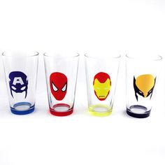 Minimal Mask Pint Glass Set Of 4, $12, now featured on Fab.