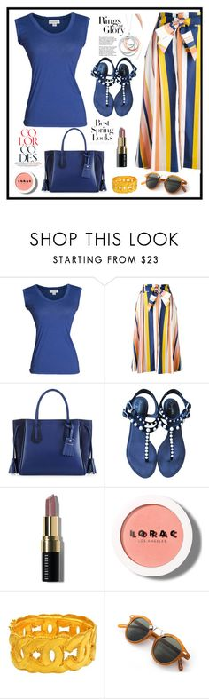 """Untitled #1939"" by ebramos ❤ liked on Polyvore featuring Velvet by Graham & Spencer, Tanya Taylor, Tiffany & Co., Longchamp, Chanel, Bobbi Brown Cosmetics, LORAC and H&M"