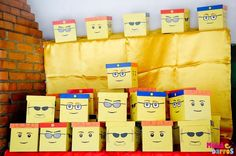 Favors at a  Lego Party #lego #partyfavors