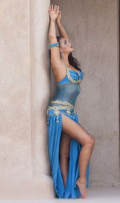 f41a18da412 Professional belly dancers turquoise sequin costume stocking cover dance  body xl