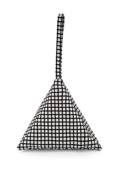 Small Leather Pyramid  Pouch by Slow and Steady Wins the Race Now Available on Moda Operandi
