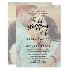 Whimsical Calligraphy Faded Photo The Wedding Of Invitation Elegant Wedding Invitations, Wedding Invitations With Pictures, Engagement Party Invitations, Wedding Invitation Cards, Card Wedding, Photo Invitations, Wedding Stationery, Birthday Invitations, Engagement Parties