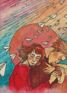 Зелёная лампочка Sketchbook Inspiration, Art Sketchbook, Watercolor Illustration, Watercolor Art, Art Sketches, Art Drawings, Character Design Animation, Couple Art, Art Pictures