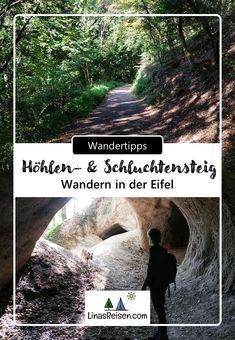 Der Traumpfad Höhlen- und Schluchtensteig ist ein abwechslungsreicher Wanderweg in der Eifel. Der Rundweg führt durch Höhlen und Schluchten, vorbei an vielen Bäumen und Feldern. Die Route eignet sich hervorragend für einen halben Tagesausflug. Travelling, Day Trips, Destinations, Vacation, Viajes