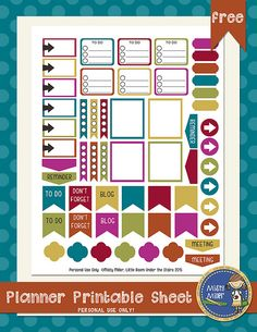 happy fall - planner printables and background papers