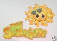 Premade My Sunshine Title with Sun Paper Piecing by My Tear Bears Kira | eBay