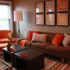 Apartment Living Room Brown Couch Interior Design 51 Ideas For 2019 Brown Couch Decor, Brown Couch Living Room, Living Room Colors, Living Room Paint, New Living Room, Small Living Rooms, Living Room Modern, Living Room Designs, Living Room Decor