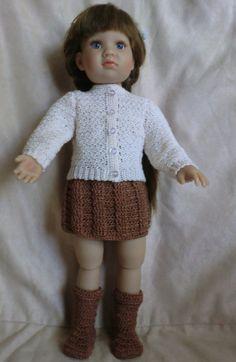K11  Sweater Skirt & Boots  Crochet pattern for Kidz by barbsdolls