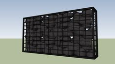 Large preview of 3D Model of Caged Rock Wall 2