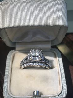 72b63a7b5 Excited to share this item from my #etsy shop: 1.15 carat Wedding Set.