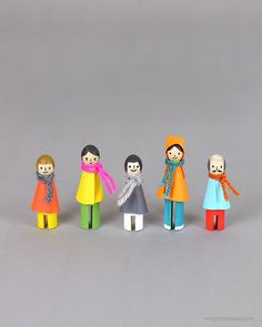 DIY winter peg dolls / Mr Printables
