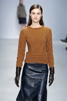 Allude - Fall / Winter 2013: Exposed or detailed (crocheted?) seams...,,?