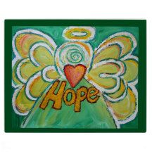 Hope Heart Word Green Angel Inspirational Art Painting Postcard Cards Package) by DonnaBellas Angels Art Painting Gallery, Painting & Drawing, Art Gallery, Hope Art, Words Of Hope, Angel Art, Awareness Ribbons, Vibrant Colors, Drawings