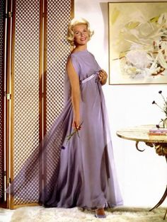 Doris Day in a costume photo shoot for Ross Hunter's Midnight Lace