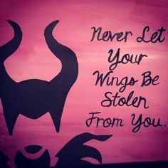 Malificent canvas quote disney disney tattoos quotes, disney paintings и .