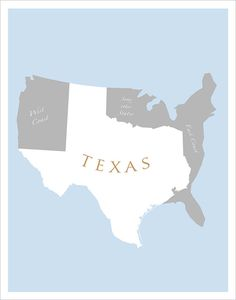 TEXAS Art Print - 11x14 - Texas poster wall hanging Home decor
