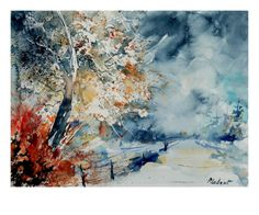Watercolor 12414526 Giclee Print by Ledent at Art.com