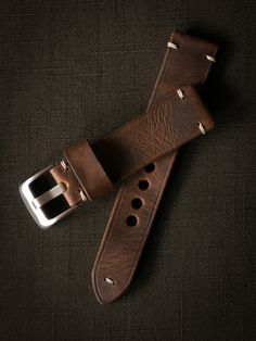 Dress up your watch with one of the finest handmade leather watch straps around.