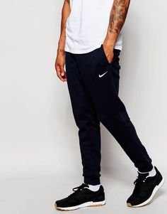 b962765b4756 Joggers by Nike Soft-touch sweat Stretch waistband Embroidered logo Side  pockets Tapered fit - cut loosely around the thigh and tapered from the  knee to the ...