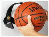Ball Claw : The Ball Claw sports ball holder rack for basketballs, footballs, and soccer balls