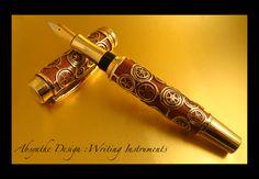 Steampunk Fountain Pen 1 by Absynthe Design by azazel-is-burning.deviantart.com on @deviantART