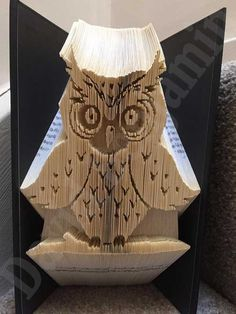 Create your own piece of stunning Book Art with this cute Owl on Branch Combi Cut and Fold Book Folding Pattern. Buy Today !!