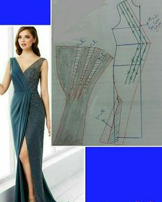 Diy – how to copy a dress pattern – sew maggiejean Dress Sewing Patterns, Blouse Patterns, Clothing Patterns, Blouse Designs, Sewing Pants, Sewing Clothes, Diy Clothes, Costura Fashion, Pattern Draping