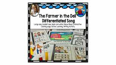"""Who doesn't remember playing """" The Farmer in the Dell""""? This is a fun song that will have your students singing along. The Farmer in the Dell is an old children's song that is great for circle time. It has been differentiated. The Farmer in the Dell is a fun game, I have the directions included in this packet. School Songs, Fun Songs, English Language Learners, Grand Kids, Circle Time, Speech And Language, Fun Games, Learning Activities, Farmer"""