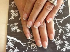 Acrylic nails with from French gel polish