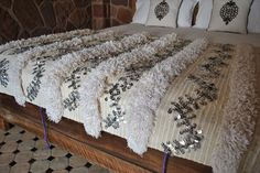 Beyond Marrakech: Handira Boutique Must have a Moroccan Wedding Blanket!
