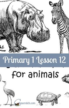 Lesson helps and handouts for Primary 1 Lesson 12: I am thankful for animals