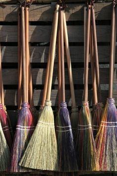 colored brooms halloween  kids crafts