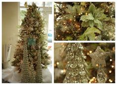 Sage and Silver Christmas Tree Frontgate | silver and Sage Christmas | +CHRISTMAS + | Pinterest