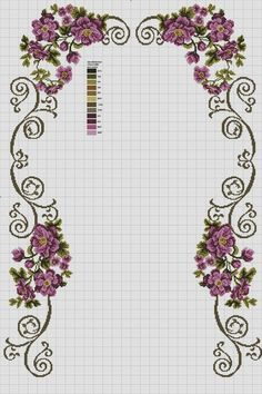 This Pin was discovered by Hül Cross Stitch Pillow, Cross Stitch Borders, Cross Stitch Flowers, Cross Stitch Designs, Cross Stitching, Cross Stitch Embroidery, Cross Stitch Patterns, Embroidery Patterns Free, Embroidery Designs