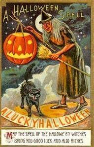 halloween postcard - Strange Halloween Facts