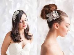 Image result for Bridal hairpiece