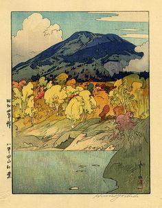 Autumn in Hakkodasan - 1929 Hiroshi Yoshida 1929 Illustrations, Illustration Art, Art Occidental, Art Japonais, Wow Art, Japanese Painting, Japanese Prints, Japan Art, Chinese Art