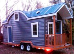 After suffering from several bouts of pneumonia and losing some of her distance vision, Jessica Bolt knew that she would not be able to afford rent or an average home on her teacher's salary. Tiny House Plans, Tiny House On Wheels, Tiny House Nation, Cabins And Cottages, Small Cabins, Little Houses, Mini Houses, Green Houses, Tiny House Movement