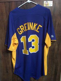 19564139b Blue Milwaukee Brewers Zack Greinke Baseball Jersey. Grailed. Milwaukee  BrewersBaseball Jerseys