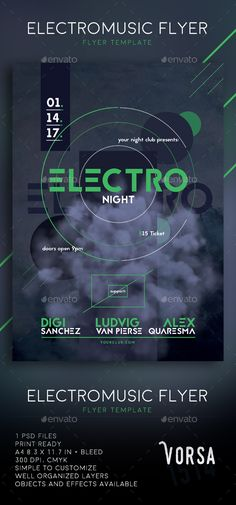Electronic Music Flyer Template PSD