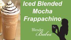 Fantastic Iced Blended Mocha Frappe. @BlenderBabes www.blenderbabes.com #vitamix #blendtec #recipe #iced #blended #mocha #frappe
