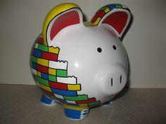 lego piggy bank - Wild About Animals week